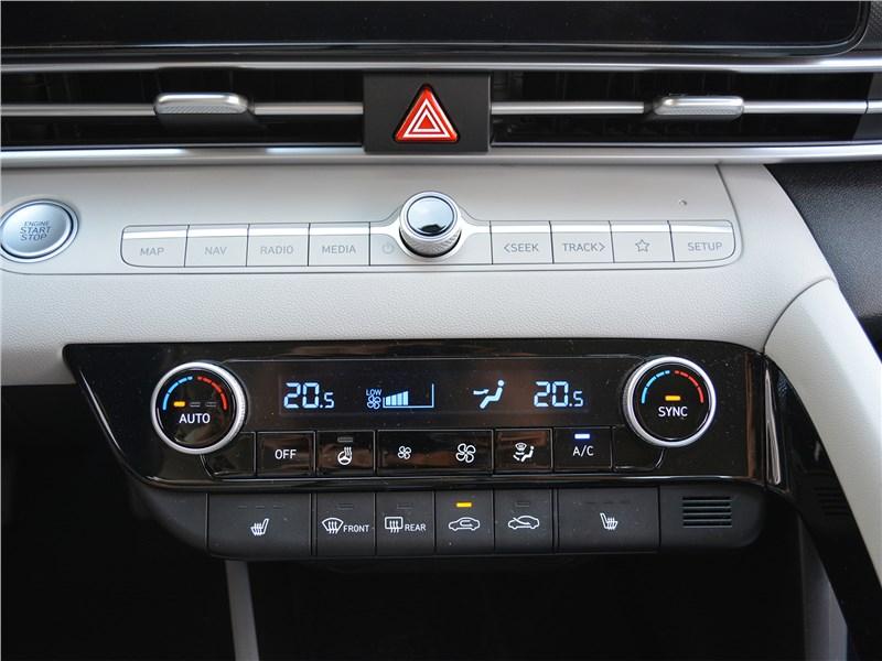 Hyundai Elantra (2021) управление климатом