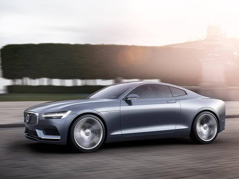 Volvo Coupe концепт 2013 вид сбоку фото 2