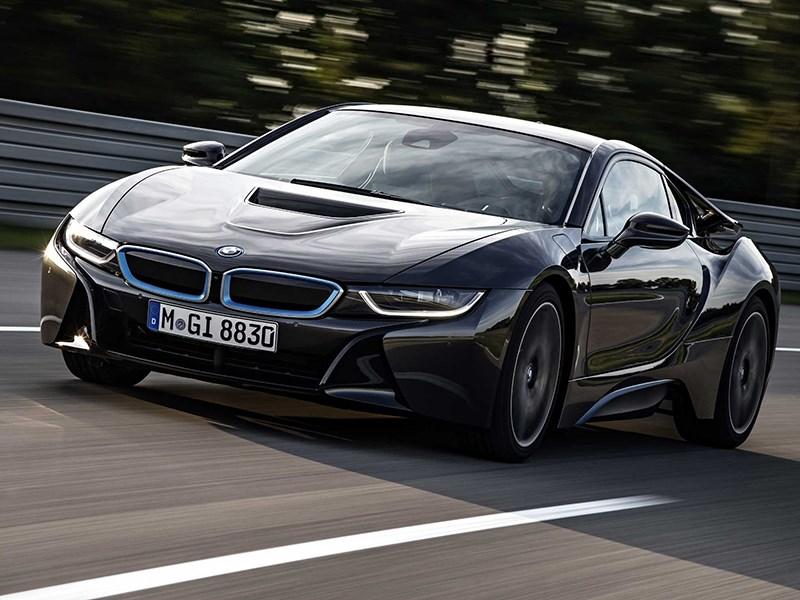 BMW i8 2014 вид спереди фото 1