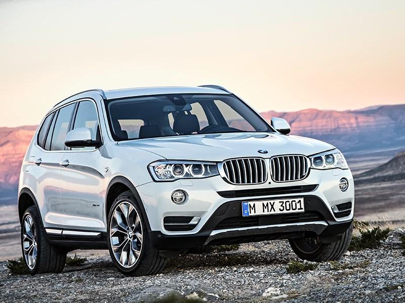 BMW X3 2014 вид спереди фото 1