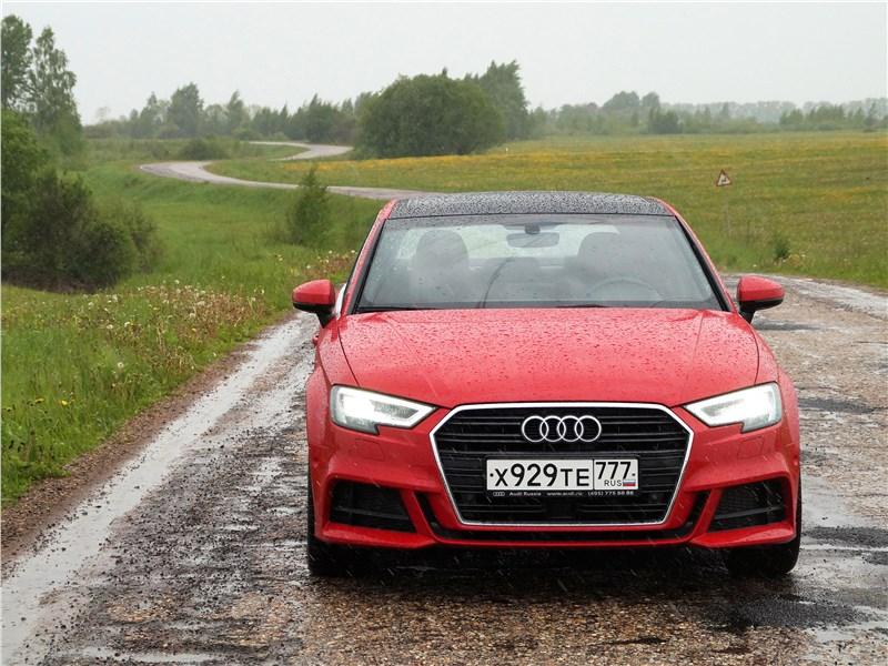 Audi A3 Sedan 2017 вид спереди