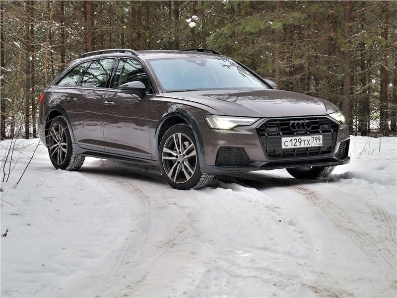 Audi A6 allroad quattro (2020) вид спереди