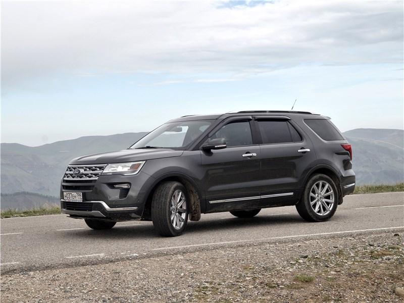 Ford Explorer 2018 вид сбоку