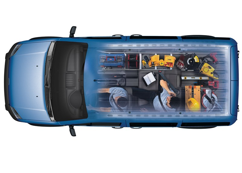 Ford Tourneo Connect 2008 рентген кузова при двух сложенных сиденьях