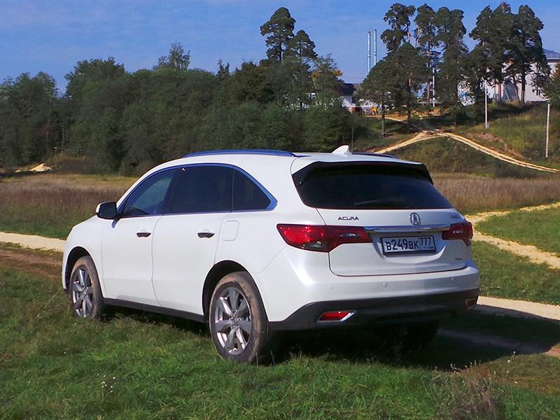 Acura MDX 2014 вид сзади сбоку