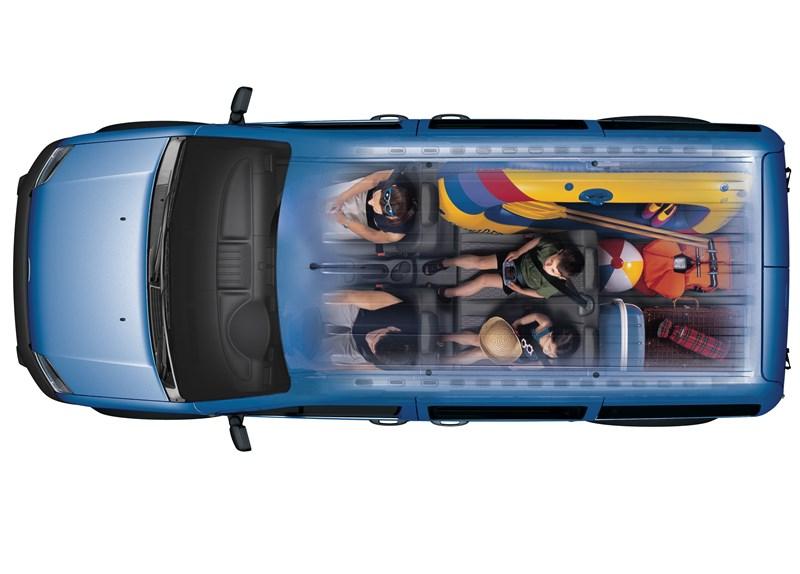 Ford Tourneo Connect 2008 рентген кузова при одном сложенном сиденье