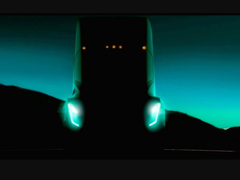 Tesla показала вглобальной сети 1-ый тизер своего фургона