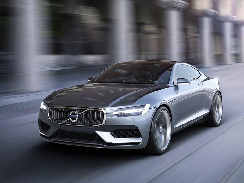 Volvo Coupe концепт 2013 вид спереди фото 2