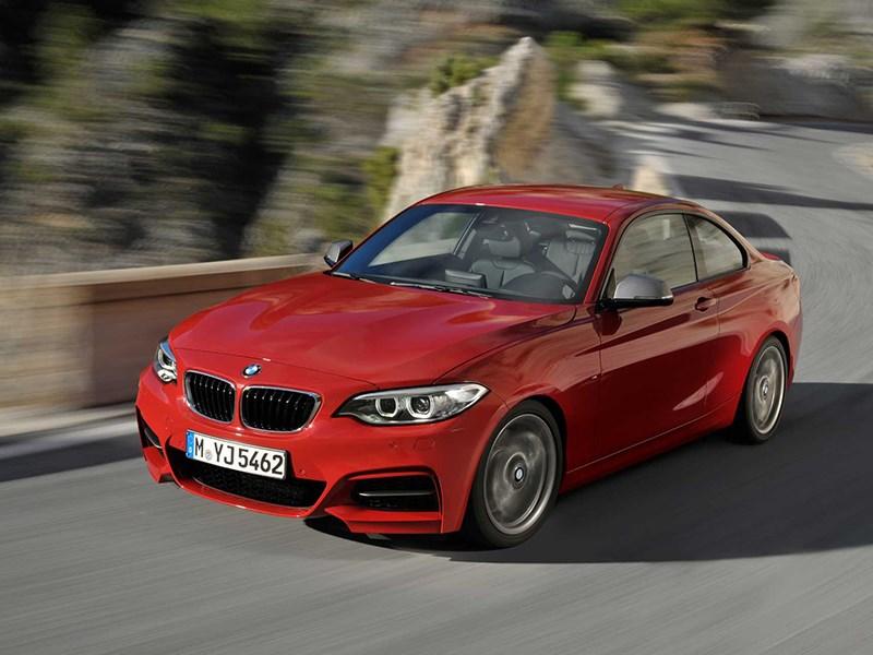 BMW 2 Series 2013 вид спереди красная