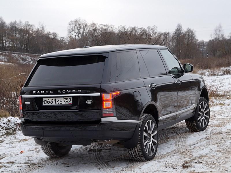 Range Rover LWB 2014 вид сзади сбоку фото 2