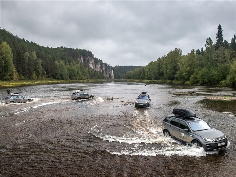 Land Rover Discovery Sport 2015 переправа через реку