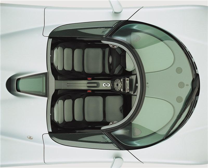 Koenigsegg CC 1998 вид кокпита сверху