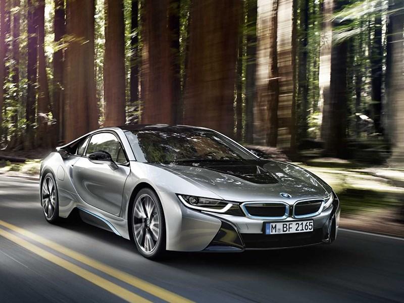 BMW i8 2014 вид спереди фото 2