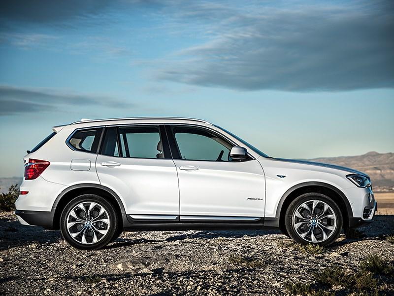 BMW X3 2014 вид сбоку фото 1
