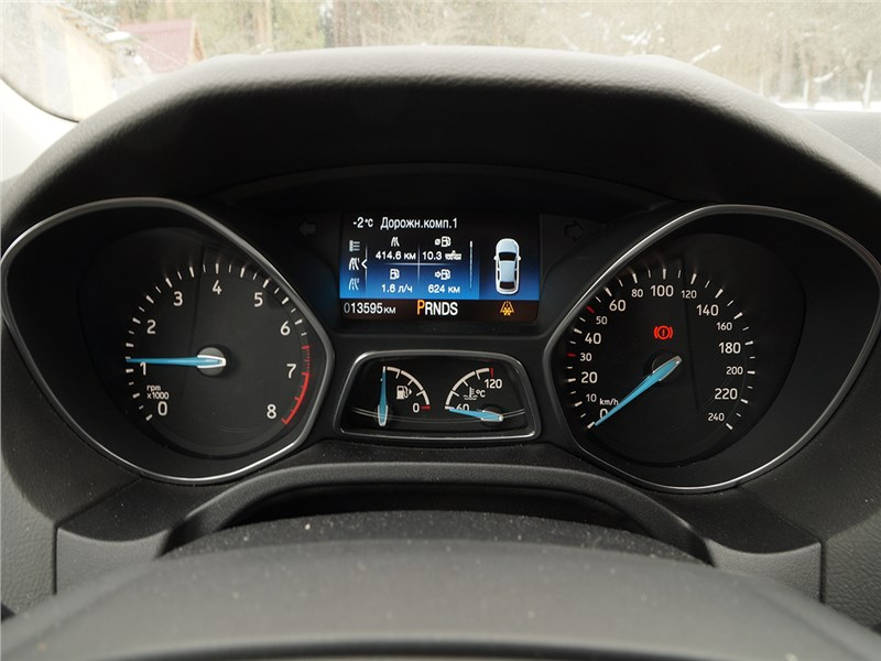 Ford Focus 2014 приборная панель