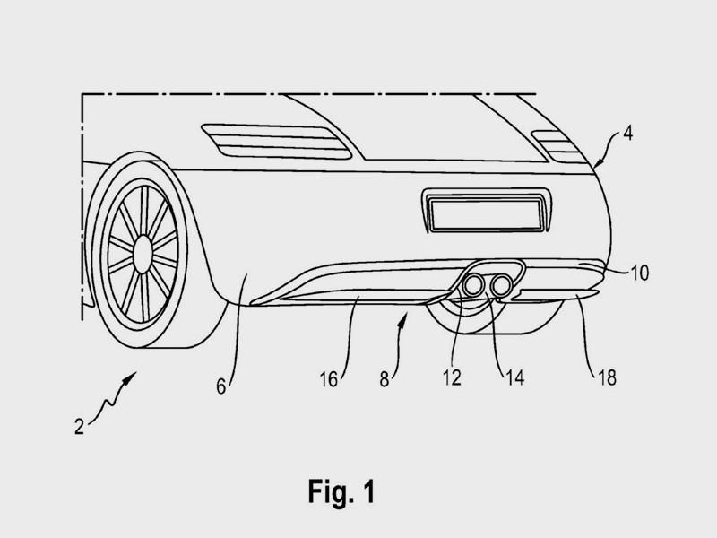 Porsche запатентовала активный диффузор