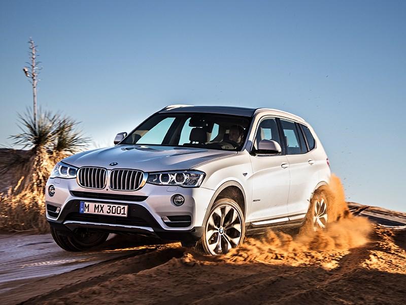 BMW X3 2014 вид спереди фото 2