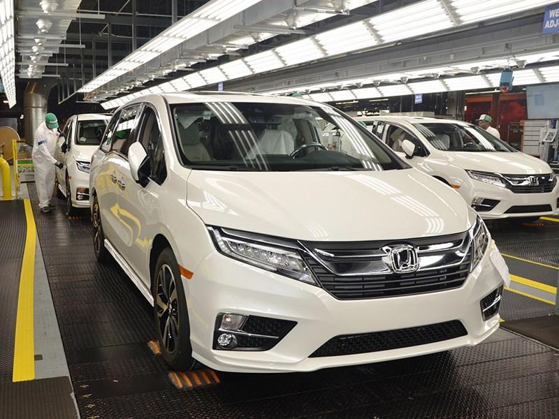 ВСША началось серийное производство Хонда Odyssey обновленного поколения
