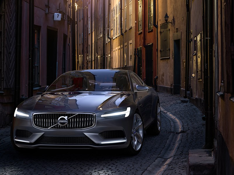 Volvo Coupe концепт 2013 вид спереди фото 4