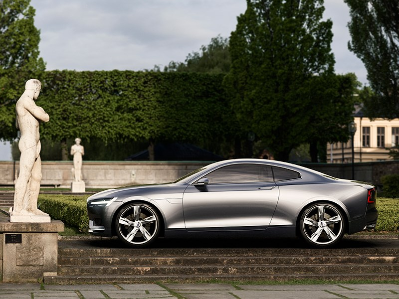 Volvo Coupe концепт 2013 вид сбоку фото 4