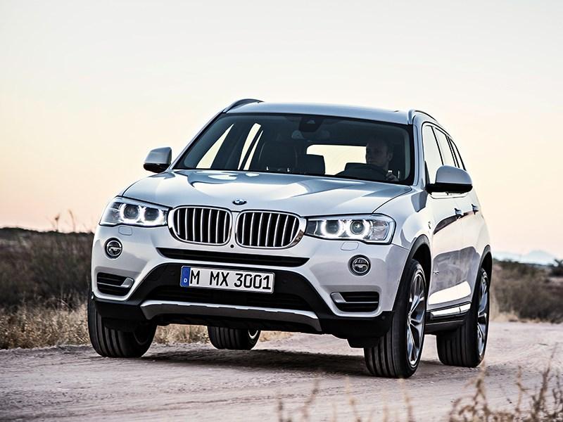 BMW X3 2014 вид спереди фото 4