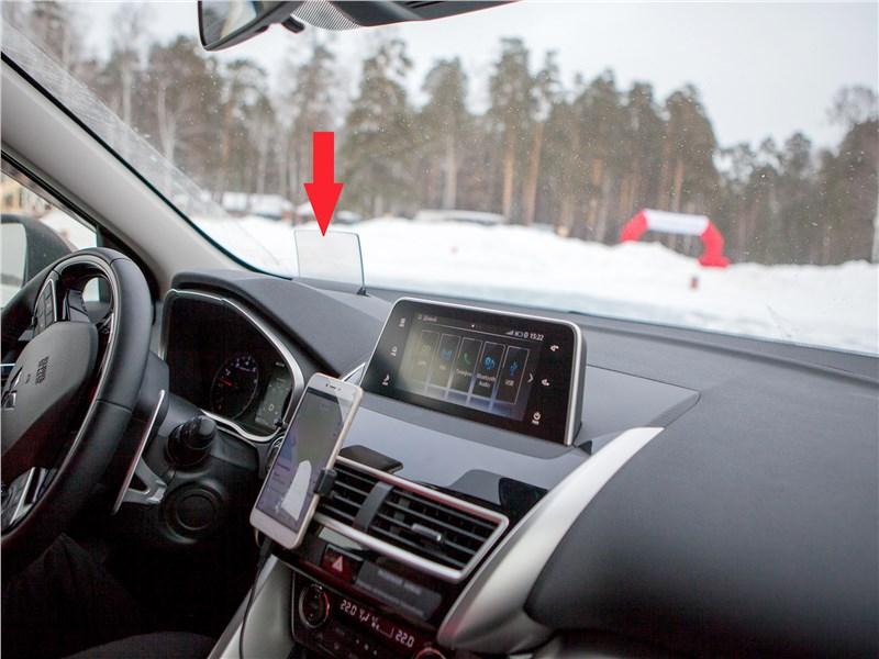 Mitsubishi Eclipse Cross 2018 выдвижной проекционный экранчик