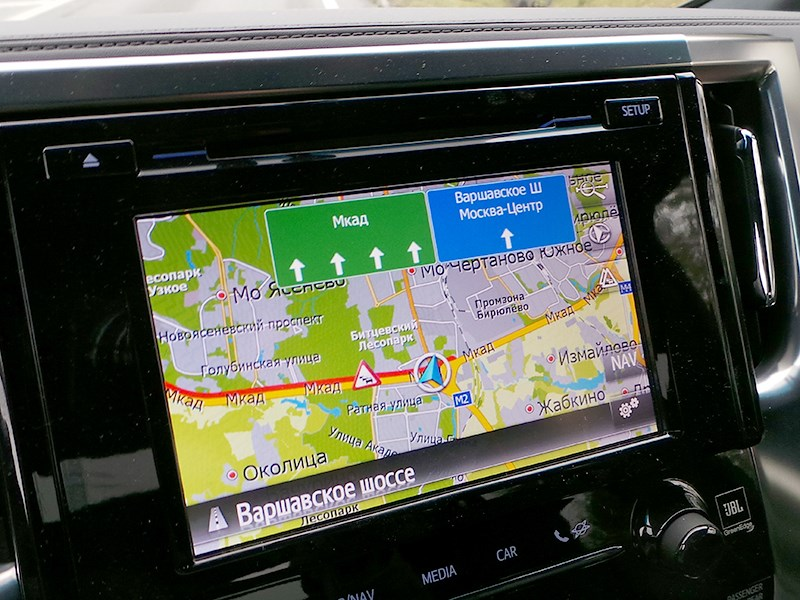Toyota Alphard 2015 система навигации