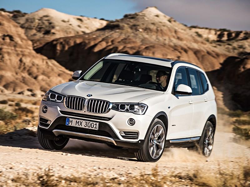 BMW X3 2014 вид спереди фото 5