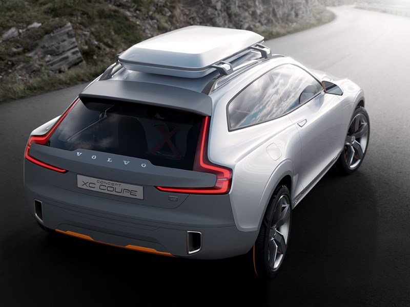 Volvo XC Coupe concept 2014 вид сзади фото 3