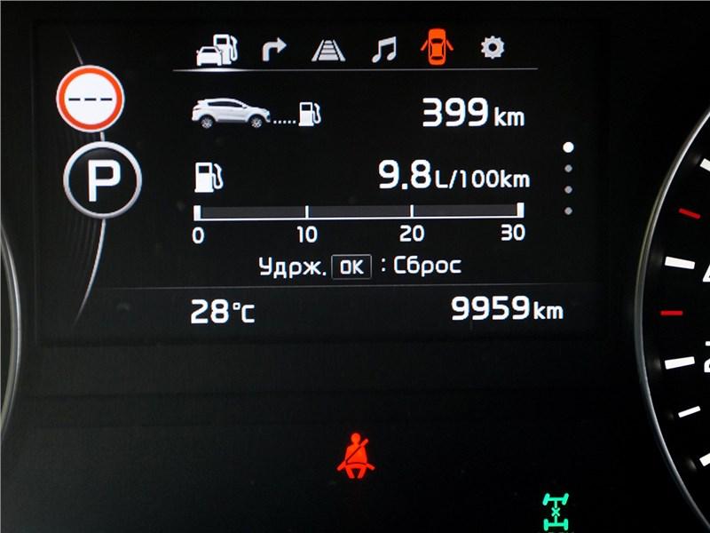 Kia Sportage 2016 приборная панель