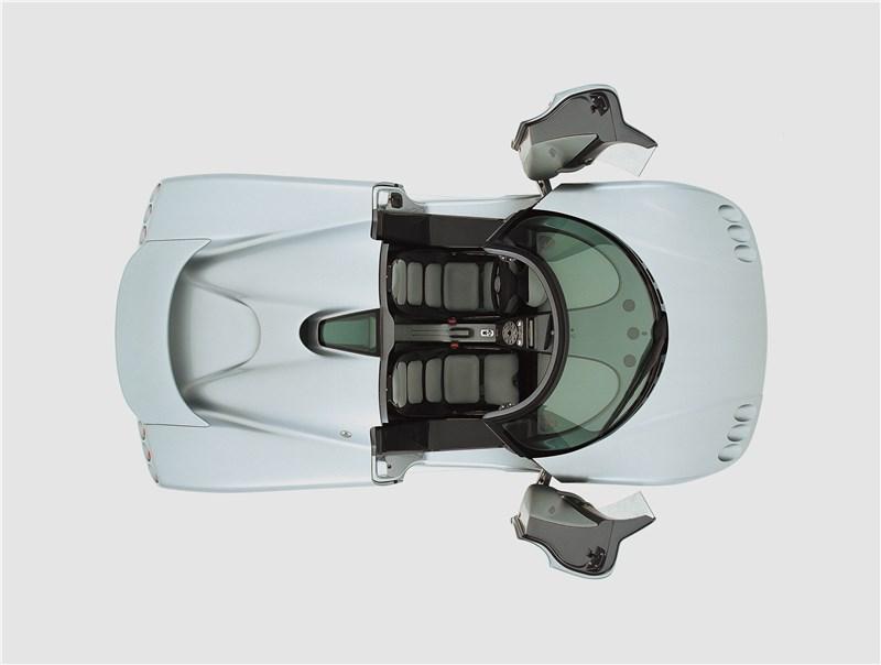 Koenigsegg CC 1998 вид сверху с открытыми дверями