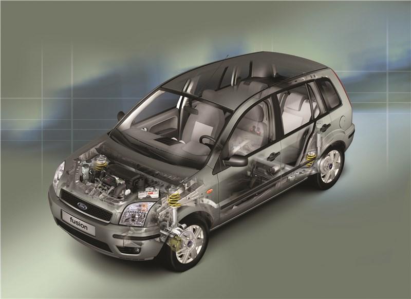 Ford Fusion 2002 рентген кузова спереди