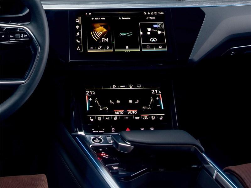 Audi e-tron Sportback (2021) центральная консоль