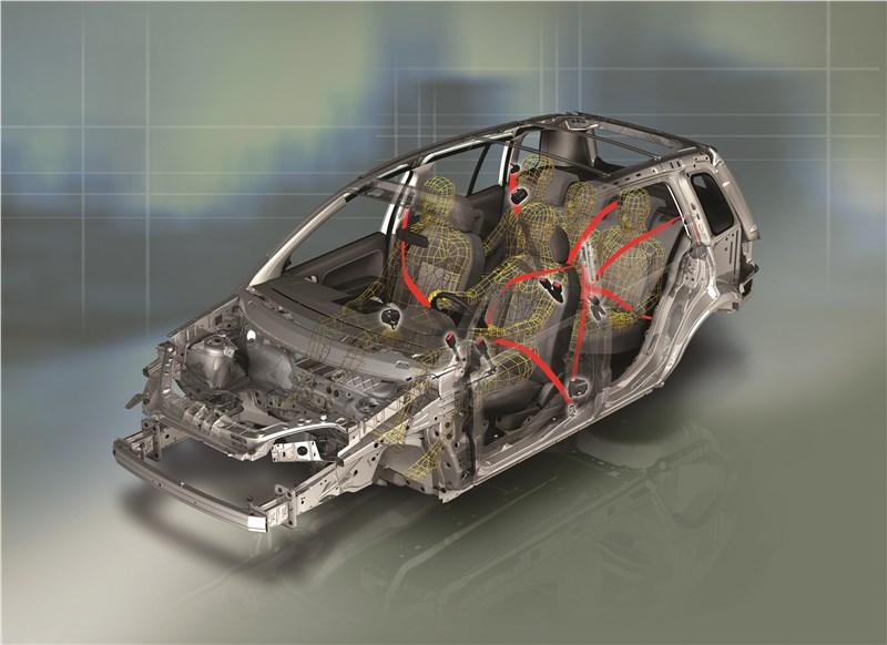 Ford Fusion 2002 схема ремней безопасности