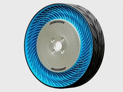 Японская компания Bridgestone представила свое видение конструкции непневматических шин