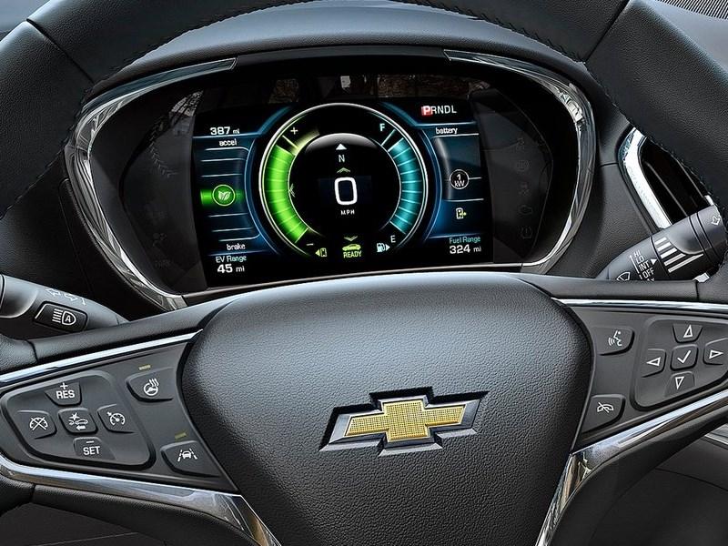 Chevrolet Volt 2016 приборная панель и кнопки управления на руле