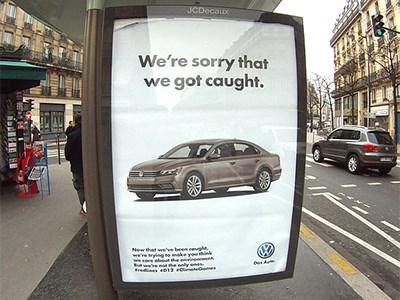 Художники из Brandalism высмеяли Volkswagen перед Конференцией ООН
