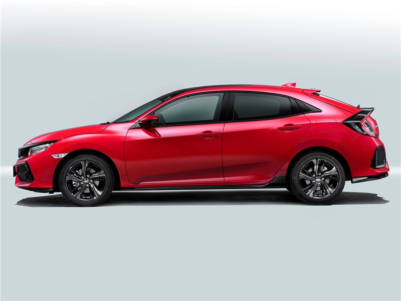 Honda Civic 2017 вид сбоку