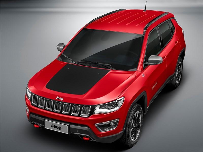 Jeep Compass 2017 вид сверху