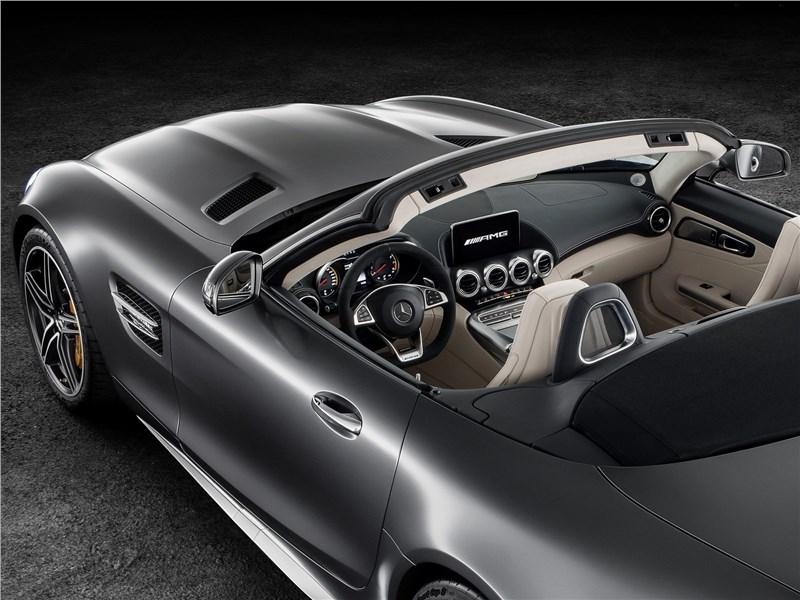 Mercedes-AMG GT C Roadster 2017 вид сверху сзади