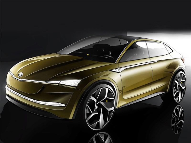 Skoda Vision E Concept 2017 Купе подано