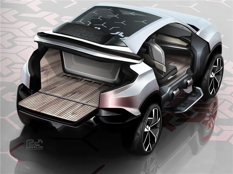 Tata H5X Concept 2018 багажное отделение
