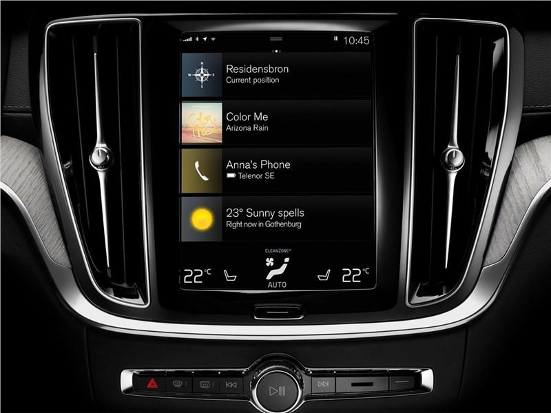 Volvo V60 2019 центральная консоль