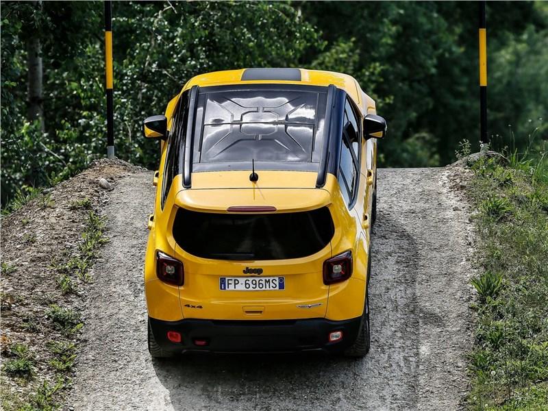 Jeep Renegade 2019 вид сверху