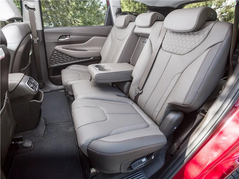 Hyundai Santa Fe 2019 диван второго ряда