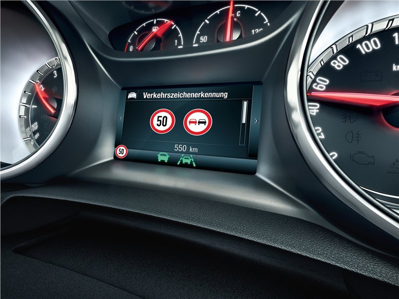 Opel Astra 2016 приборная панель