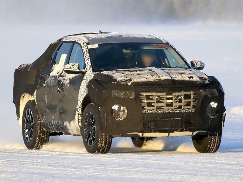 Пикап Hyundai пойман во время испытаний Фото Авто Коломна