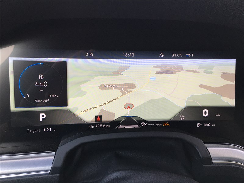 Volkswagen Touareg R-Line (2021) приборная панель
