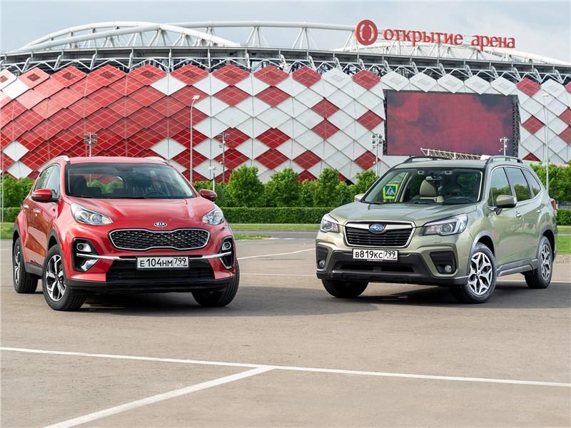 Сравнительный тест KIA Sportage, Subaru Forester - KIA Sportage и Subaru Forester: кто более универсален?