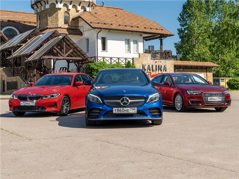 Audi A4, BMW 3 series, Mercedes-Benz C-Class - сравнительный тест птица-тройка по-немецки: драйверский bmw 3 series, комфортабельный mercedes-benz c-class или рассудительный audi a4?